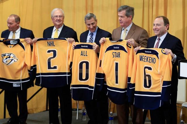 Le match des étoiles de la LNH sera présenté au Bridgestone Arena de Nashville... (Photo Mark Humphrey, AP)