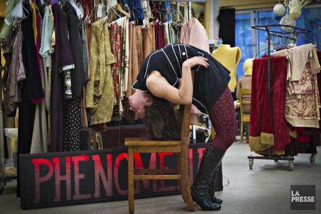 La contorsionniste gatinoise Andréane Leclerc présentera un programme... (Photo: Olivier Jean, La Presse)