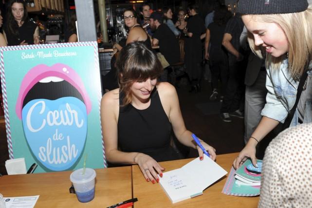 L'auteure du blogue Les Fourchettes lors du lancement... (photo Danièle Francis)