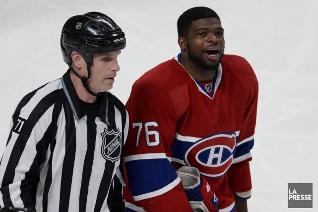 «Oui, c'est vrai, je m'adresse souvent aux arbitres... (Photo Bernard Brault, archives La Presse)
