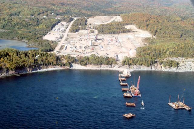 L'emplacement de la construction de la cimenterie de... (PHOTO COLLABORATION SPÉCIALE GILLES GAGNÉ)