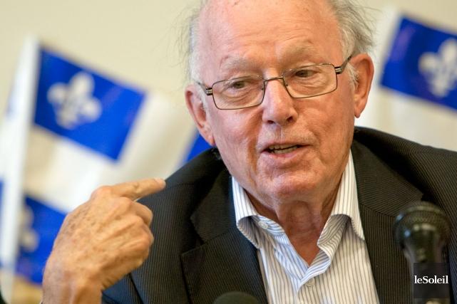 L'ex-chef du PQ Bernard Landry soutient l'autre prétendant... (Photothèque Le Soleil)