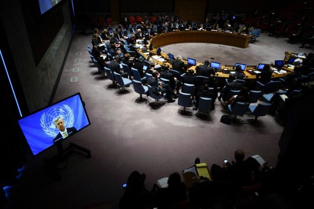 Le Conseil de sécurité a «exhorté la communauté... (Photo Eduardo Munoz, Reuters)