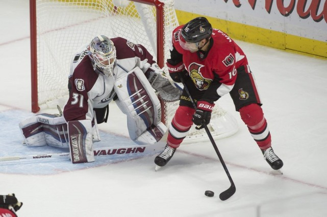Calvin Pickard a eu son baptême de feu... (PHOTO MARC DESROSIERS, USA TODAY)