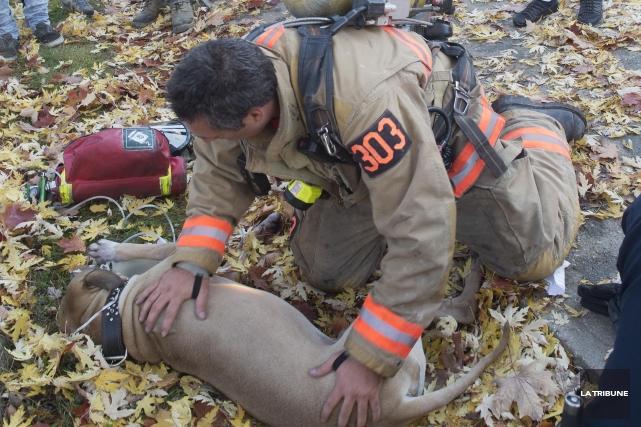 Un incendie a causé des dommages considérables dans un édifice à logements de... (IMACOM, René Marquis)