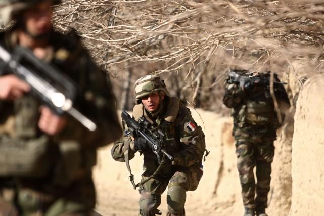 Des soldats français en Afghanistan.... (Archives, Agence France-Presse)