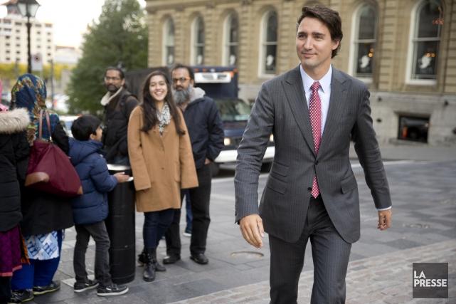 Le chef du Parti libéral du Canada, Justin... (PHOTO FRANÇOIS ROY, LA PRESSE)
