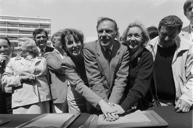 Bernadette Lafont,Jean-Louis Trintignant et Marie Dubois (à droite),... (Photo Archives AFP)