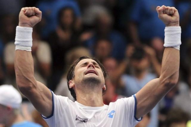 David Ferrer... (Photo Ronald Zak, AP)
