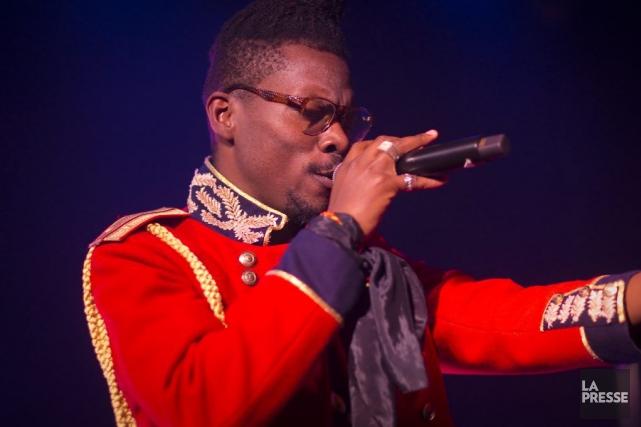 Le chanteur montréalais d'origine congolaisePierre Kwenders a donné... (Photo: André Pichette, La Presse)