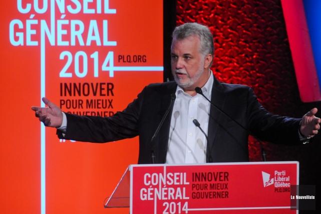 Philippe Couillard martèle de plus en plus le... (Le Nouvelliste, François Gervais)