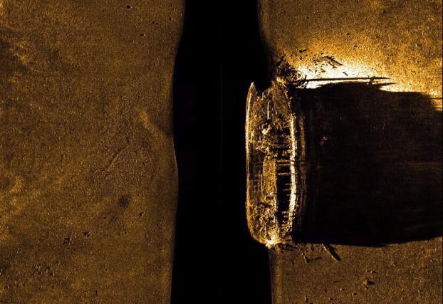 Une image du NSM Erebus captée par sonar.... (Photo La Presse Canadienne)