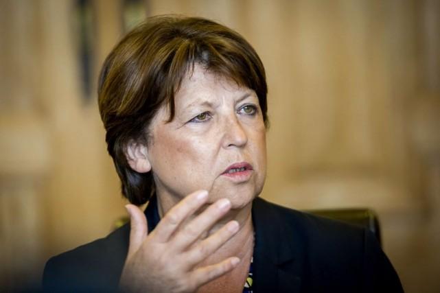 La maire PS de Lille,Martine Aubry, était déjà... (Photo PHILIPPE HUGUEN, AFP)