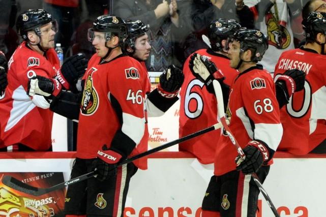 Les Sénateurs d'Ottawa signent une quatrième victoire consécutive.... (Photo Eric Bolte, archives USA TODAY)