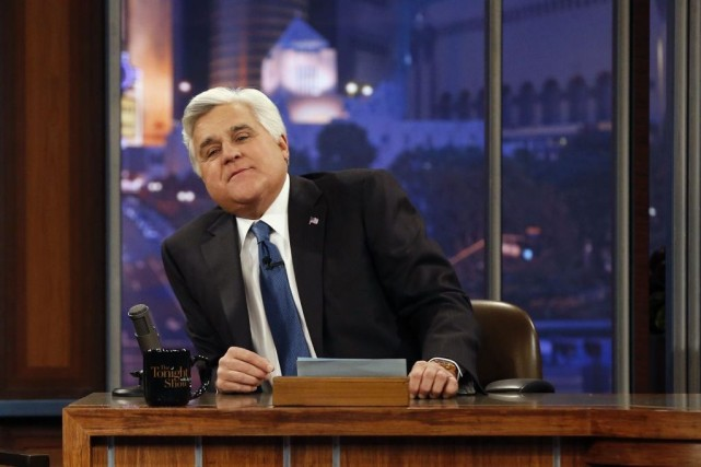 Jay Leno lors du dernier épisode du Tonight... (Photo archives Reuters)