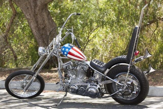 La Harley, un modèle «chopper» doté d'une très... (Photo Damian Dovarganes, archives AP)