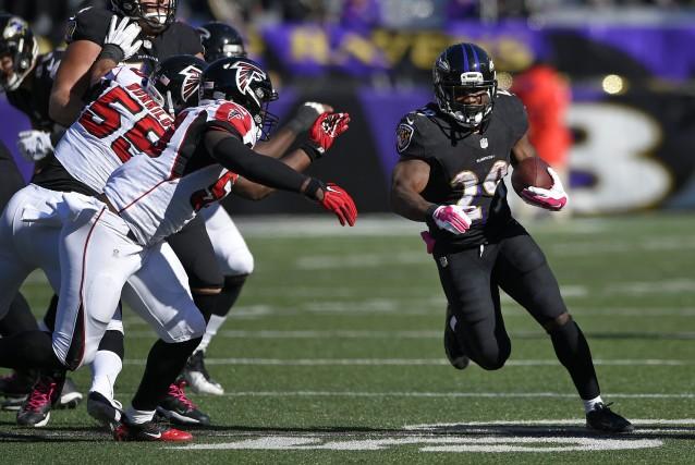 Les Ravens ont enregistré une deuxième victoire convaincante... (Photo Nick Wass, AP)