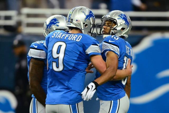 Matthew Stafford a lancé deux passes de touché dans les quatre dernières... (Photo Andrew Weber, USA Today Sports)