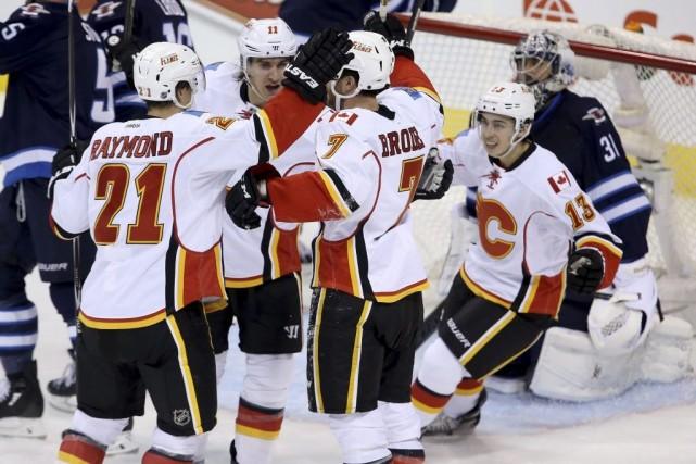 Mason Raymond a amassé un but et deux mentions d'aide pour aider les Flames de... (Photo: PC)