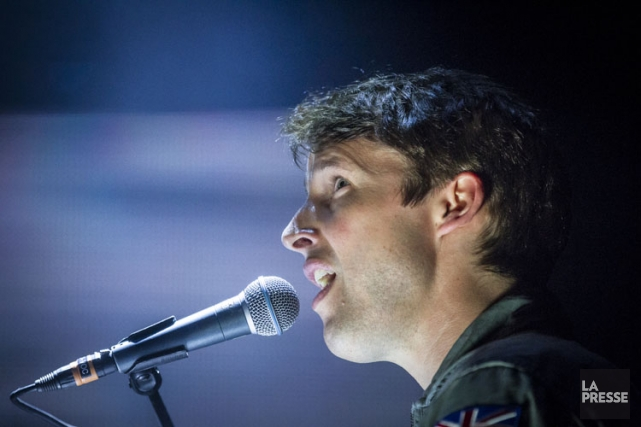 James Blunt en concert au Centre Bell en... (Photo: Olivier Pontbriand, archives La Presse)