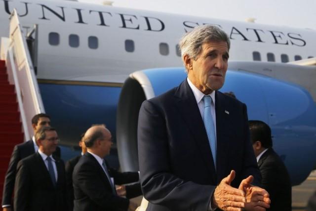John Kerry a eu des rencontres bilatérales pour... (Photo Brian Snyder, Reuters)