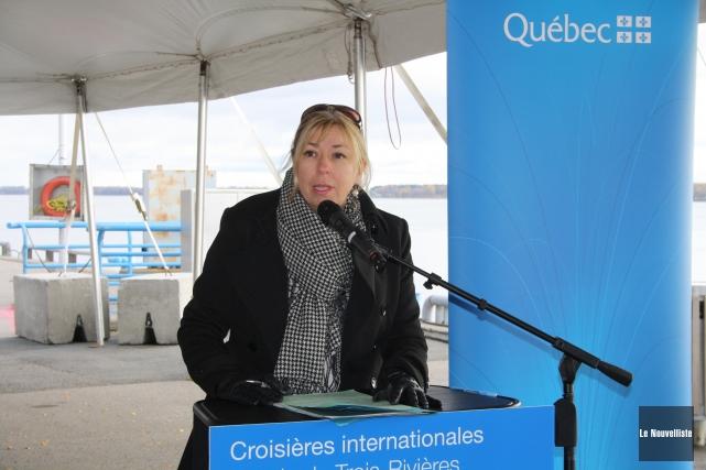 La ministre québécoise du tourisme, Dominique Vien.... (Photo: Gabriel Delisle, Le Nouvelliste)