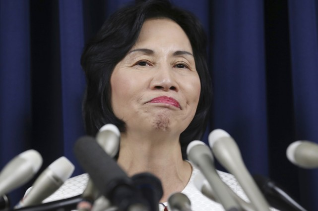La ministre de la Justice Midori Matsushima a... (PHOTO KOJI SASAHARA, AP)