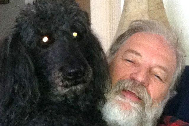 Donald Pinet et son chien Mervill....