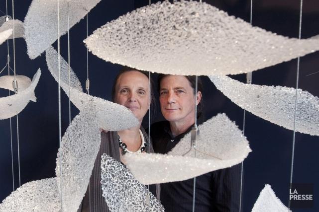 Susan Edgerley et Donald Robertson, deux artistes représentés... (Photo: Robert Skinner, archives La Presse)