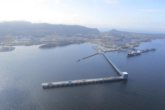 Le nouveau quai multiusager du port de Sept-Îles,... (Photo fournie par le port de Sept-Îles)