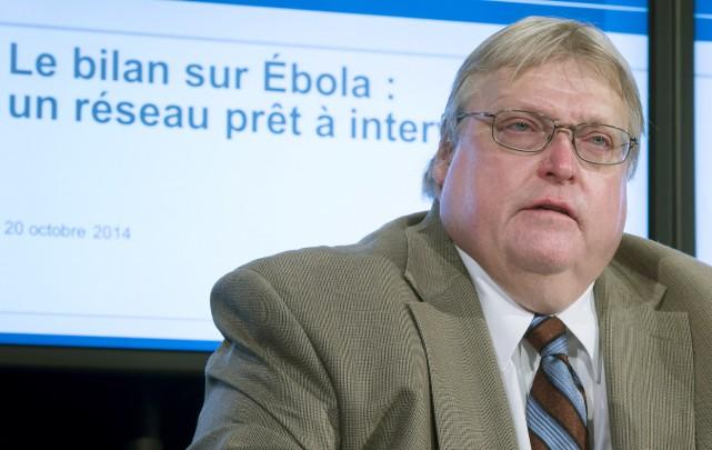 Le ministre de la SantéGaétan Barrette... (Photo La Presse Canadienne)