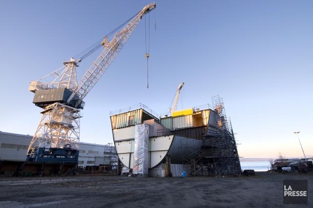 Le gouvernement Harper réduit sa commande de navires de patrouille pour... (Photo Jacques Boissinot, Archives PC)