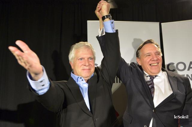 Le caquiste François Paradis (à gauche) a remporté... (Le Soleil, Yan Doublet)