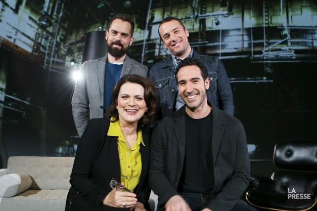 Sur le plateau de tournage de Dans la... (Photo La Presse, Martin Chamberland)