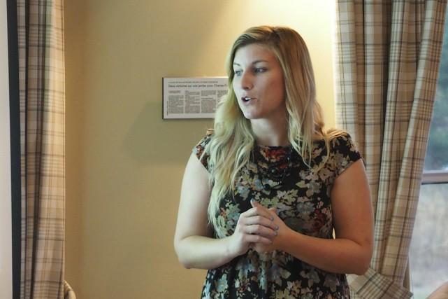 Stéphanie Morin, chargée de projet à la revitalisation... (photo Maxime Sauvage)