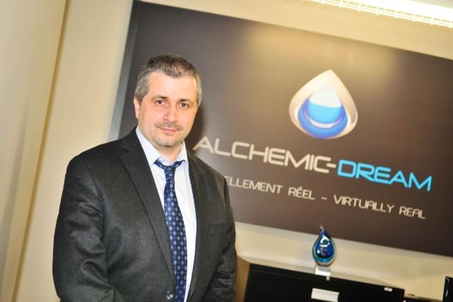 Philippe Nadeau, président d'Alchemic Dream.... (Photo: Émilie O'Connor)