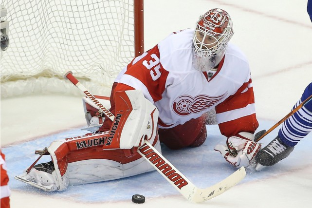 Jimmy Howard... (Photo Tom Szczerbowski, USA Today Sports)