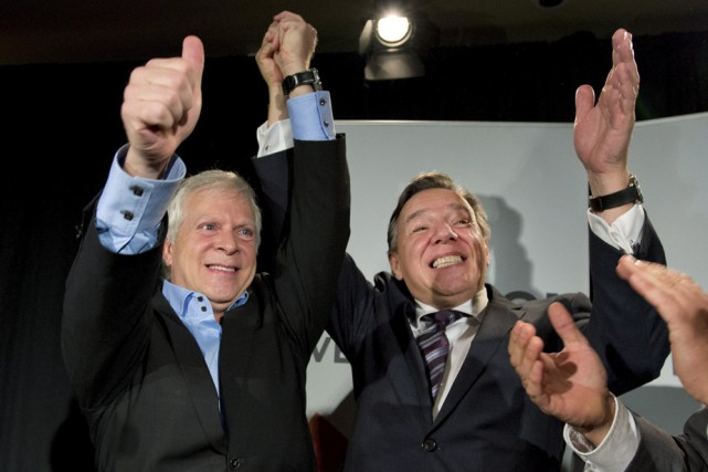 Au grand plaisir de son chef, François Legault,... (Photo: La Presse Canadienne)