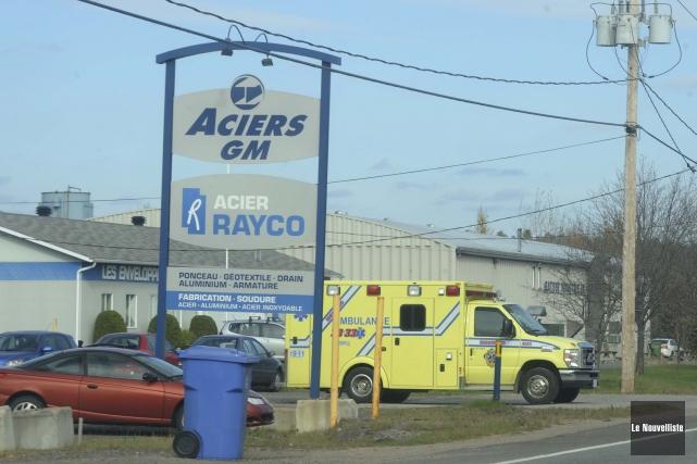 Un accident de travail est survenu hier dans les installations de l'entreprise... (Photo: Sylvain Mayer, Le Nouvelliste)