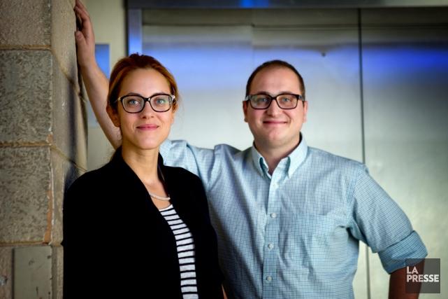 Sophie Boulanger et son associé Louis-Félix Boulanger, de... (PHOTO MARCO CAMPANOZZI, LA PRESSE)