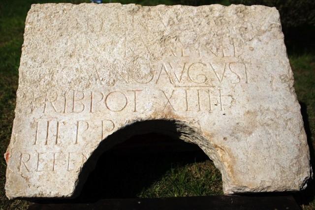 La pierre porte le nom de l'empereur romain... (PHOTO MENAHEM KAHANA, AFP)
