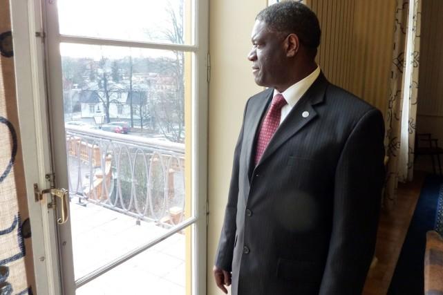 Denis Mukwege, 59 ans, est connu pour l'aide... (PHOTO HUGUES HONORE, ARCHIVES AFP)