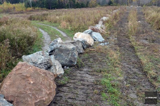 La Ville de Sherbrooke a entrepris mardi des travaux à la mine Ascot aux... (Imacom, Maxime Picard)