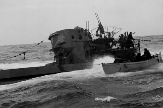 Un U-Boote allemand capturé dans l'Atlantique par laMarine... (Archives PC)