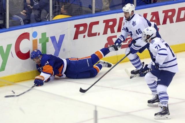 Phil Kessel a inscrit deux buts et il a guidé les Maple Leafs de Toronto vers... (Photo: Reuters)
