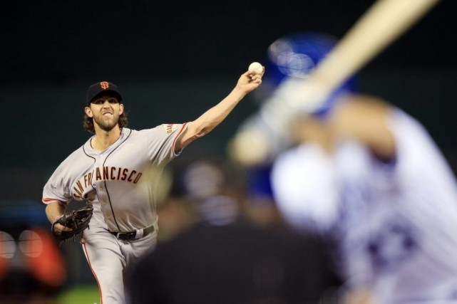 Le partant des Giants Madison Bumgarner a blanchi... (Photo: AP)