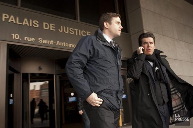 Le journaliste, Alex West (à gauche) du London... (PHOTO DAVID BOILY, LA PRESSE)
