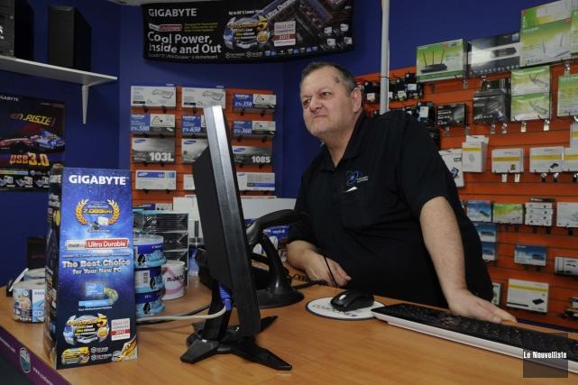Gilles Mongrain, propriétaire d'Ordinateur Express, fait partie des... (Photo: Sylvain Mayer Le Nouvelliste)