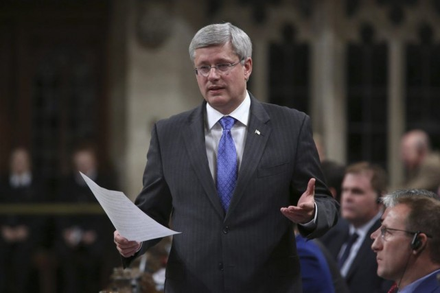 Le premier ministre Stephen Harper... (PHOTO CHRIS WATTIE, REUTERS)