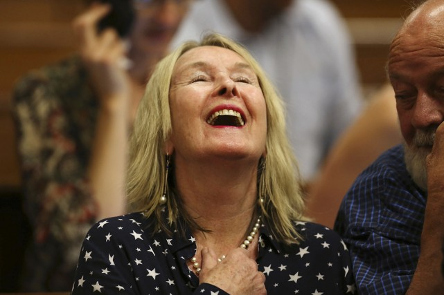 June Steenkamp, la mère de Reeva, tuée par... (PHOTO ALON SKUY, ARCHIVES REUTERS)